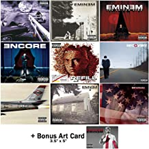 Eminem: Studio Albums 9 CD Collection (Slim Shady / Marshall Mathers LP 1 & 2 / Eminem Show / Encore / Relapse: Refill / Recovery / Revival / Kamikaze) with 7 Bonus Tracks + Art Card