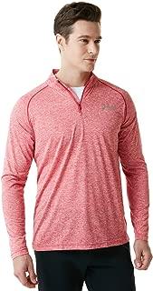TSLA Men's 1/4 Zip HyperDri Cool Dry Active Sporty Shirt Top