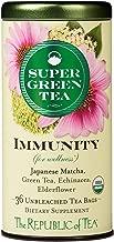 The Republic of Tea Organic Immunity Supergreen Tea, 36 Tea Bags, Elderflower, Echinacea And Matcha Tea Blend