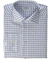 Eton - Contemporary Fit Cotton/Linen Grid Check