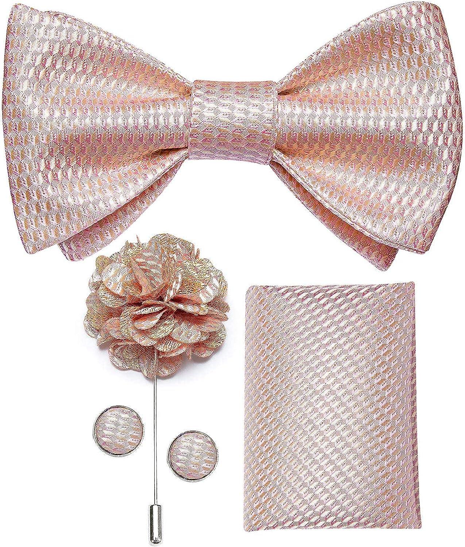DiBanGu 4 PCS Bow Tie Set for Men Formal Silk Self Wedding T 2021 100% quality warranty