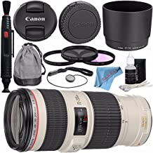 Canon EF 70-200mm f/4L IS USM Lens 1258B002 + 67mm 3pc Filter Kit + Lens Pen Cleaner + Fibercloth + Deluxe Cleaning Kit Bundle