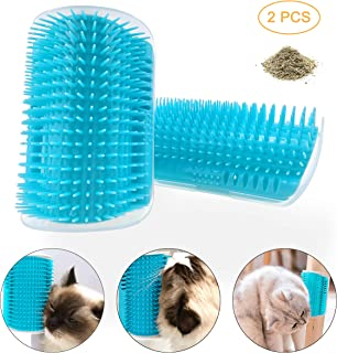 Faith Force Cat Brush Cat Toys Cat Scratcher Cat Self Groomer, 2 Packs Softer Cat Comb with Catnip,Perfect Shedding Brush for Cats/Dogs etc.