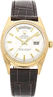 Rolex Day-Date Mechanical (Automatic) Silver Dial Mens Watch 1803 (Certified Pre-Owned)