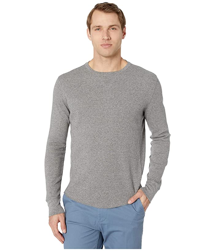 Lucky Brand  Brushed Thermal Crew Top (Heather Grey) Mens Clothing