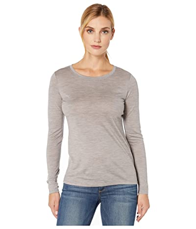 Pendleton Long Sleeve Merino Tee (Soft Grey Heather) Women