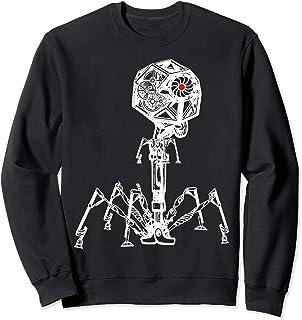 Steampunk Phage: Geeky Bacteria Virus Sweatshirt