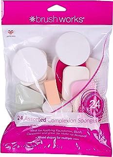 Brushworks Set de 24 Piezas de Esponja de Maquillaje Diferente 21 g