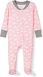 Moon and Back Girls' Organic Footed Zip-Front Sleep and Play