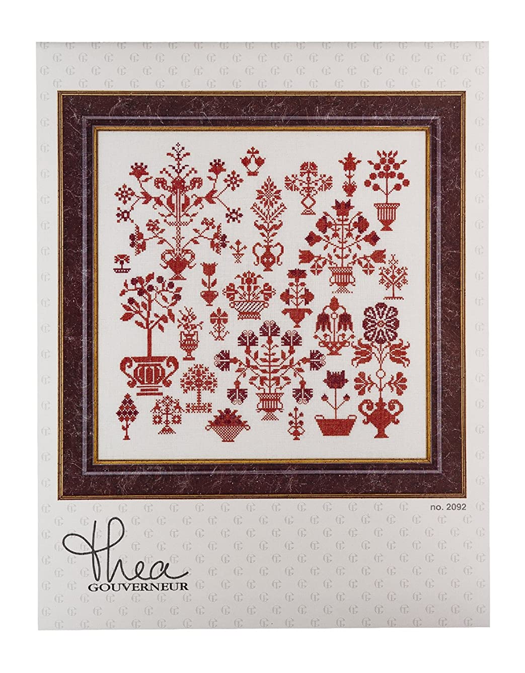 Thea Gouverneur Antique Flower Sampler Counted Cross Stitch Kit, 31.1-Inch-by-13.8-Inch