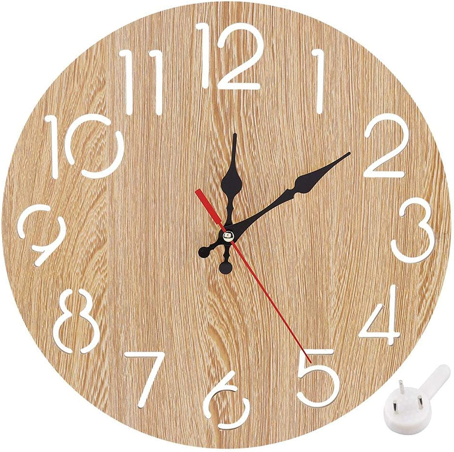 Alvinlite Vintage European Style Wall Year-end gift Big Clock Wooden Round for Ranking TOP16