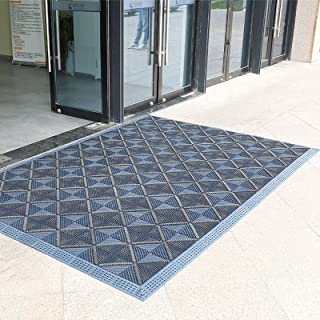 Outdoor Doormats for Entrance Way Beach, Large Commercial Front Door Welcome Mat for Garages Porch Patio, Washable Non Sli...