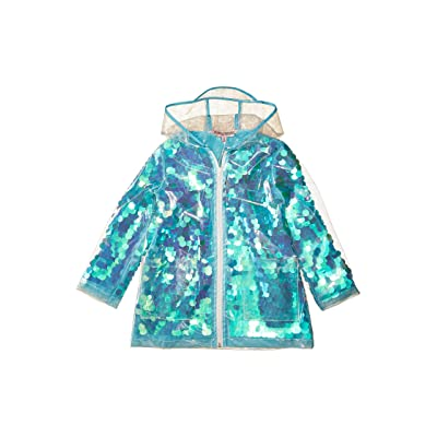 Urban Republic Kids Sequin Transparent Raincoat (Little Kids/Big Kids) (Aqua) Girl