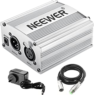 Neewer Phantom Power Kit Includes:1-Channel 48V Phantom Power Supply with Adapter and XLR Audio Cable for Any Condenser Mi...