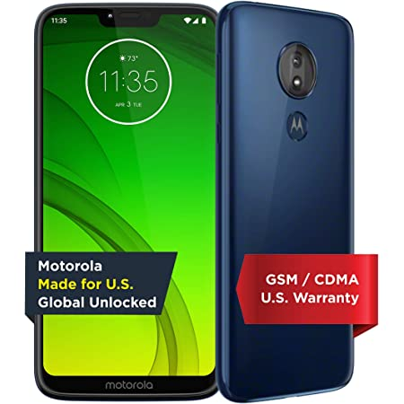 Motorola Moto G7 Power - Unlocked - 32 GB - Marine Blue (US Warranty) - Verizon, AT&T, T-Mobile, Sprint, Boost, Cricket, & Metro