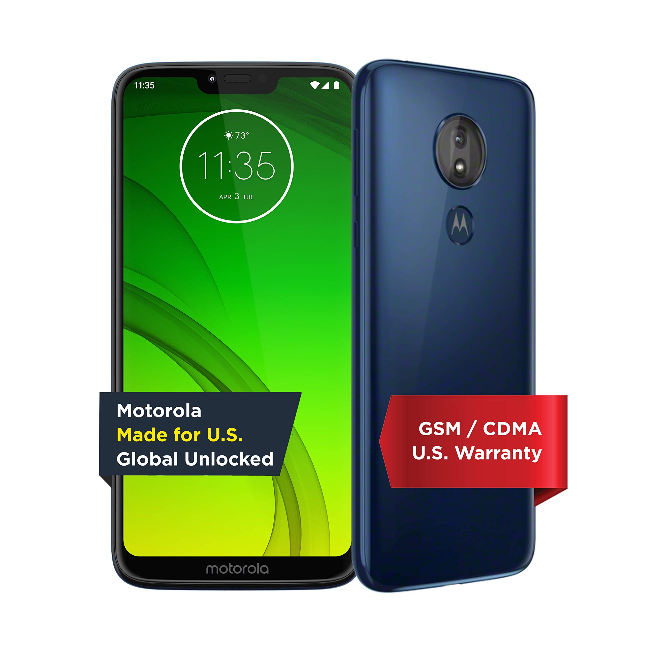 Motorola Moto G7 Power - Unlocked - 32 GB - Marine Blue (US Warranty) - Verizon, AT&T, T-Mobile, Sprint, Boost, Cricket, &...