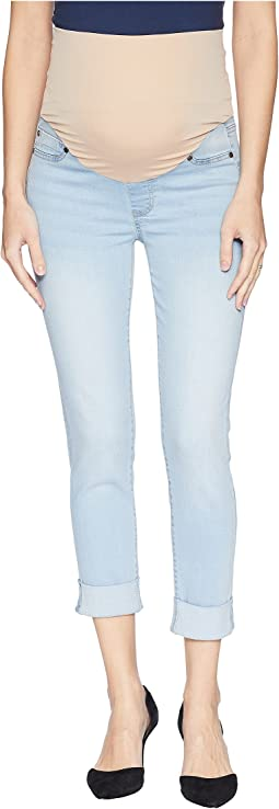 Maternity Crop Wide Cuff in Premium Super Stretch Denim in Mansfield