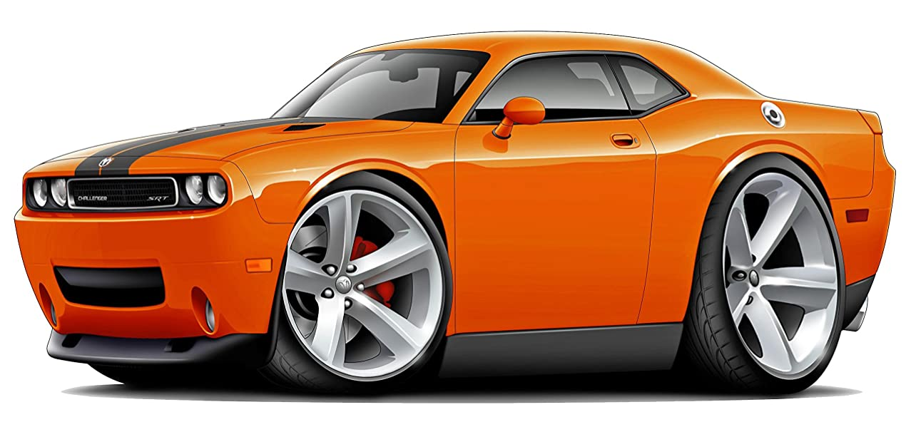 Challenger Hellcat SRT8 WALL DECAL Dodge 3D Sports Cartoon Car Movable Stickers Vinyl Wall Stickers for Kids Room