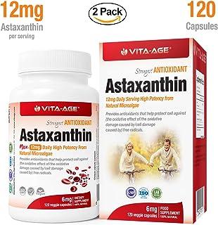 配送料無料 VITA-AGE 【2個】Astaxanthin アスタキサンチン の強力な抗酸化物質 (1日1-2粒/120粒入)【海外直送品】