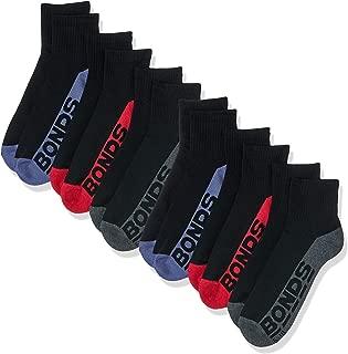 Bonds Men's Cotton Blend Logo Quarter Crew Sport Socks