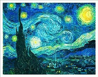 Culturenik Vincent Van Gogh Starry Night Decorative Fine Art Poster Print, Unframed 11x14