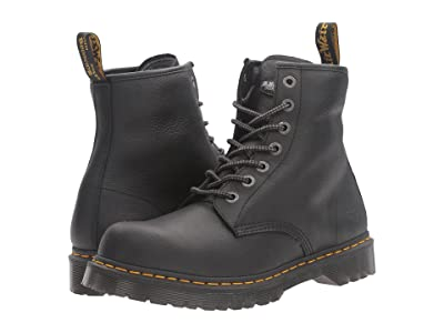 Dr. Martens Work Service 7B10 7-Eye Boot (Black Industrial Bear) Work Lace-up Boots