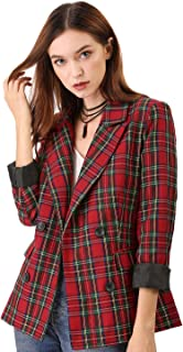 green and red plaid suit