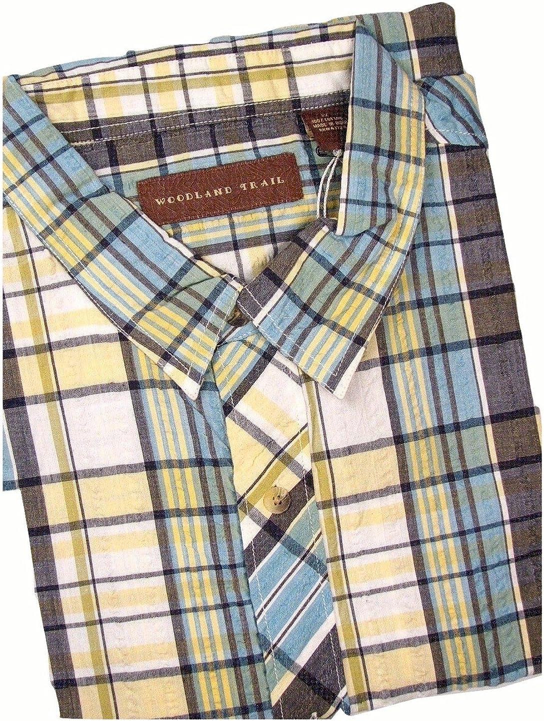 Woodland Trail Seersucker Short Sleeve Shirt