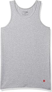 UnderJeans by Spykar Men's Solid Vest (UJ-MVE-PVS001_Grey_X-Large)