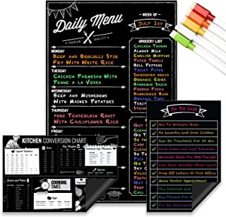 Magnetic Dry Erase Menu Board, Kitchen Conversion and to Do List Set for Kitchen Fridge - 11