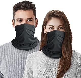 Braga térmica para cuello, 2 Pack Mascarilla Calentador de Cuello Pasamontañas Bufanda de Invierno Máscara Facial Versátil...