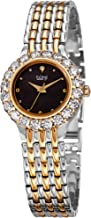 Burgi Women's Crystal Accented Watch - Mother of Pearl Dial Stainless Steel Bracelet - BUR107