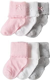 Carter's Baby Girls' Newborn F12 6 Pack Scalloped Dress Booties