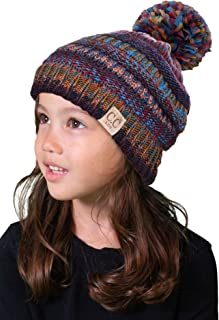 65e3c9838ac Funky Junque Kids Baby Toddler Cable Knit Children s Pom Winter Hat Beanie