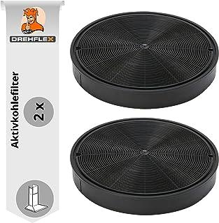 DREHFLEX AK62 – 2 – Filtro de carbón activado para Franke 112.0016.755/1120016755 / 112.0157.240/1120157240 también Franke 6093049/6093021 / 112.0169.114/1120169114