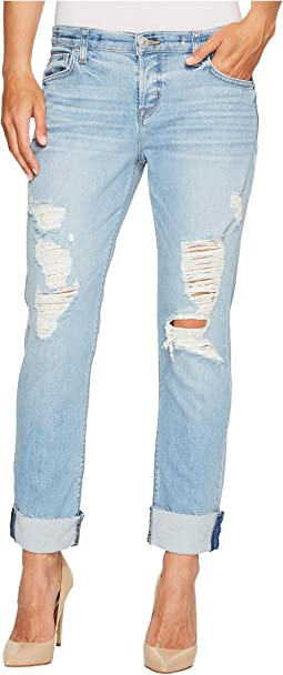 Riley Crop Relaxed Straight Raw Cuffed in Push N Shove