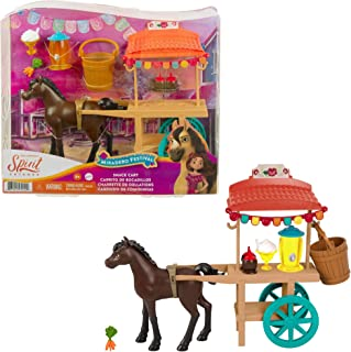 """Spirit GXF69 - Spirit Untamed Miradero Festival Stand with Rolling Wheels, Canopy, 5"""" Pony and Matching Accessories, Great..."""