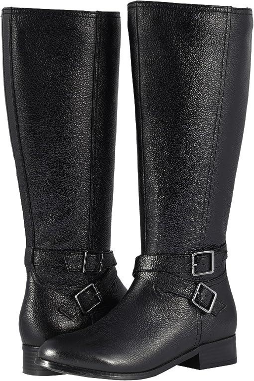 Black Soft Tumbled Leather