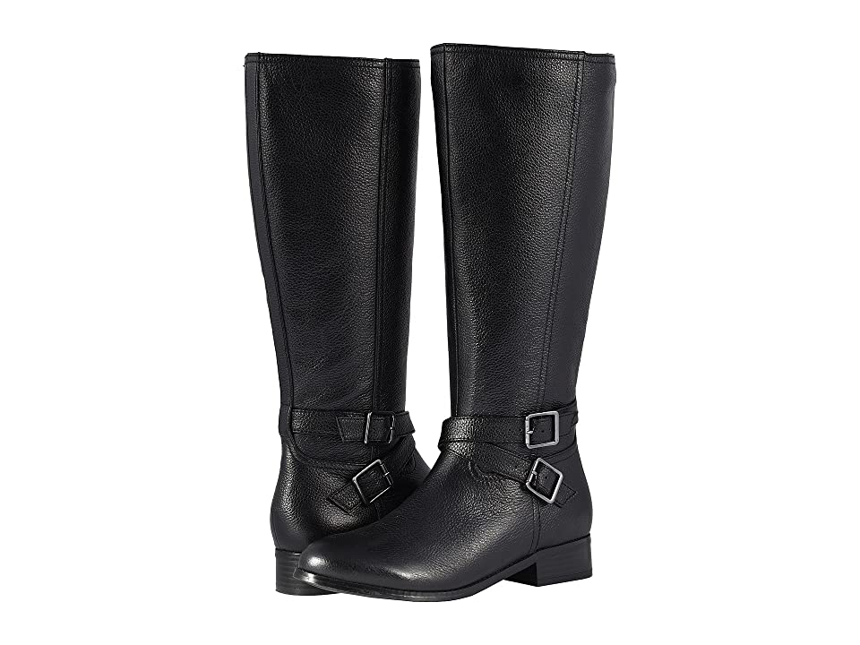 Trotters Liberty Wide Calf (Black Soft Tumbled Leather) Women
