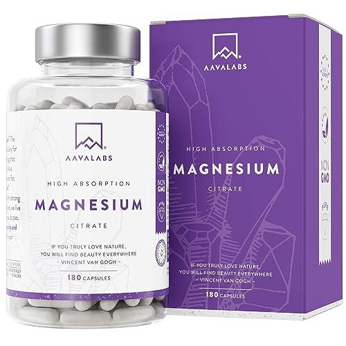 Suplemento de Citrato de Magnesio [ 400 mg ] de AAVALABS - Aumenta Testosterona Energía Rendimiento