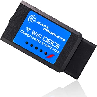 Bafx Products Wireless WiFi OBDII OBD2 Diagnostic Scanner Tool to Read & Clear Check Engine Light for iPhone & Android