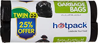 Hotpack Garbage Roll Twin Pack, 55 Gallon, 80 x 110 cm, 30 Bags, 30 Units