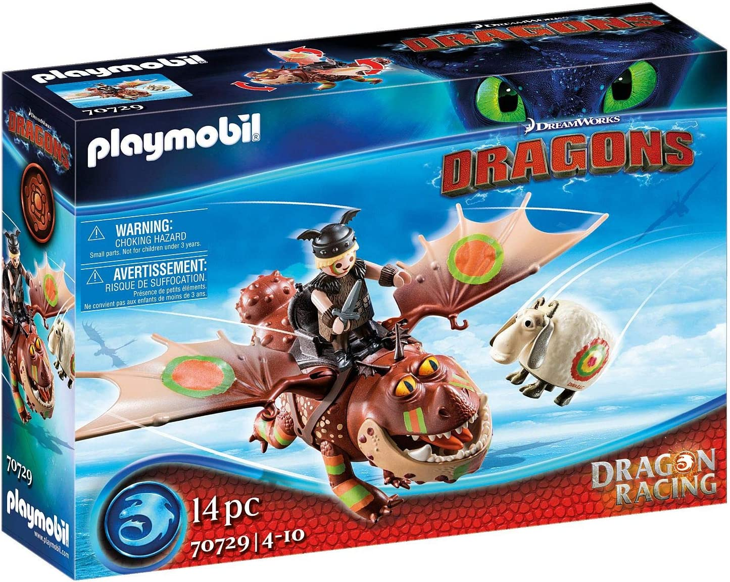 Playmobil Dragon Racing: Meatlug Fishlegs Super sale Large-scale sale period limited and