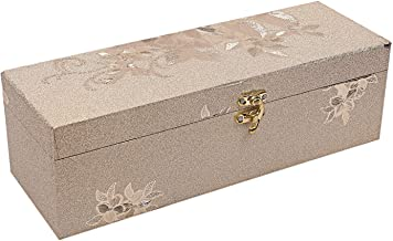 Kuber Industries Wooden 1 Piece One Rod Bangle Storage Box with Lock System (Gold) -CTKTC6856