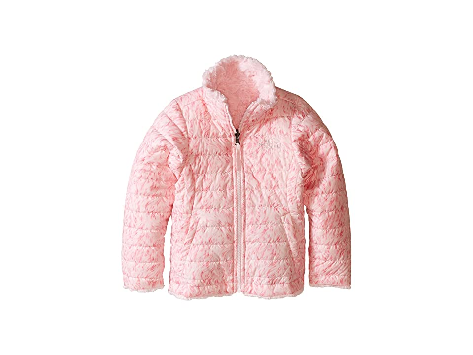 The North Face Kids Reversible Mossbud Swirl Jacket (Little Kids/Big Kids) (Coy Pink Fur Print (Prior Season)) Girl