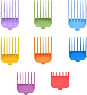 Professional Hair Clipper Guide Combs,Wahl replacement guards Set,8 Color and Sizes Attachment Guide Comb,Great Fits for All Full Size Wahl Clippers/TrimmersGreat