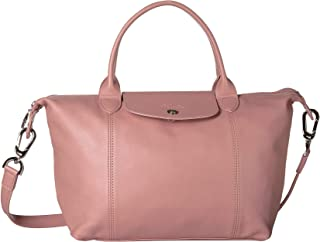 Longchamp Le Pliage Cuir Top-Handle Bag Small Pink One Size