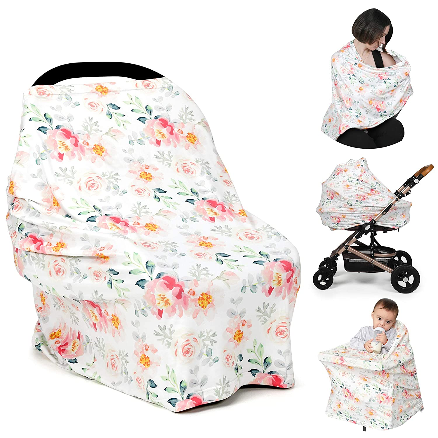 TILLYOU Dallas Mall Stretchy Jersey Brand new Knit Car for Seat Cover BabyB Canopy