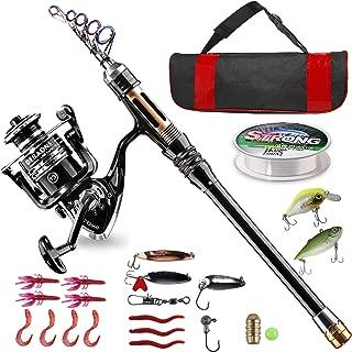BlueFire Fishing Rod Kit, Carbon Fiber Telescopic Fishing...