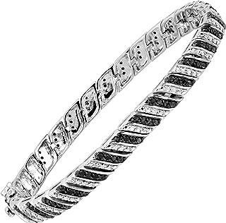 Best 1ct black diamond tennis bracelet in sterling silver Reviews